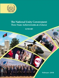 3 Year of Afghan National Unity Government Achievement Summary at a Glance in Three Languages