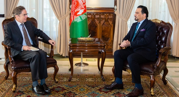 Acting Foreign Minister Meets EU Ambassador to Kabul